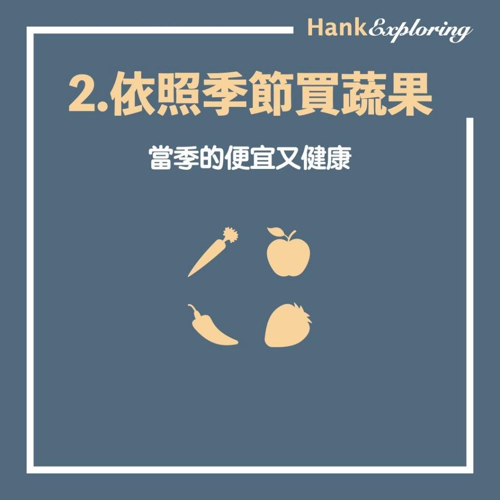 【省錢技巧 】食物省錢法:依照季節買蔬菜