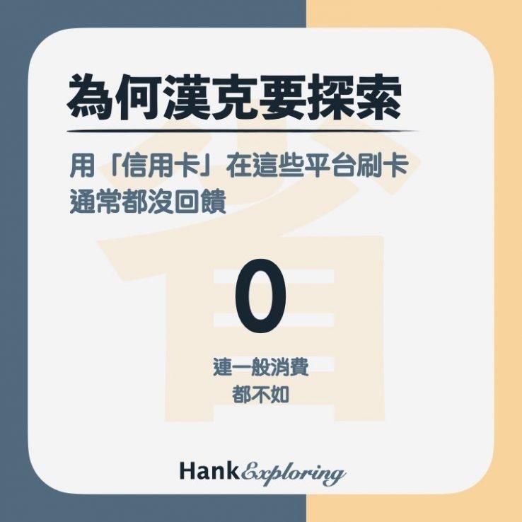 信用卡排除小額支付平台回饋