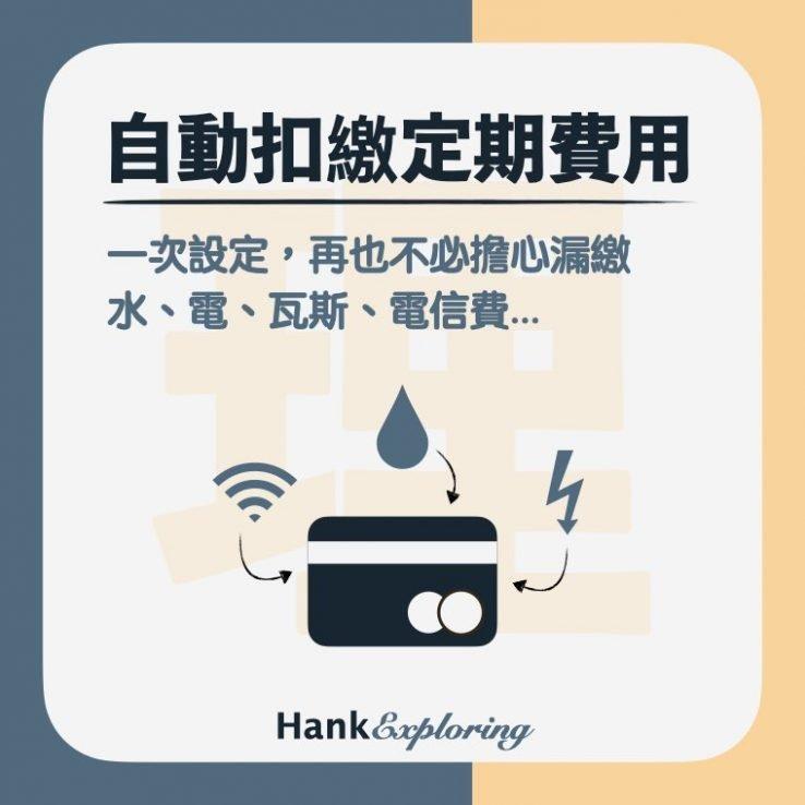 【信用卡理財】自動扣繳定期費用