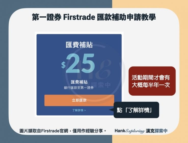 【firstrade匯款補助】申請教學step2